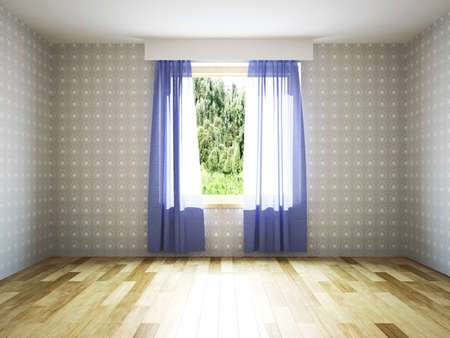 Empty room with window Stock Photo - 28287647