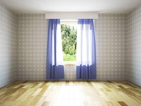 Empty room with window photo