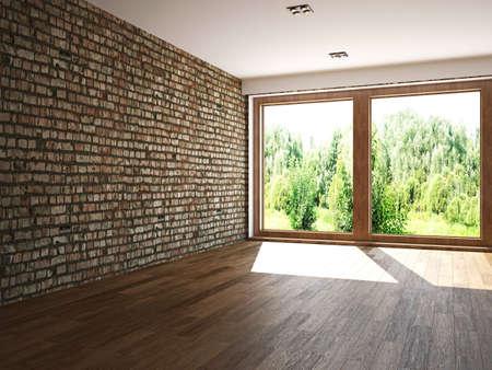 ceiling design: Empty room with window