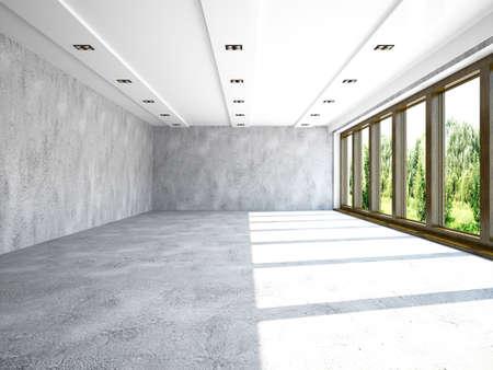 콘크리트 벽 큰 홀 스톡 콘텐츠