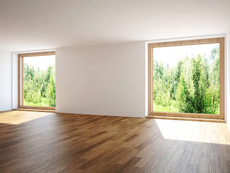 Empty room with windows