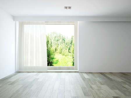 Empty room with window