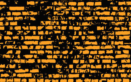 Texture of an old brick wall Vector