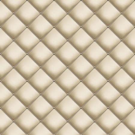 Texture of beige leather upholstery Vector
