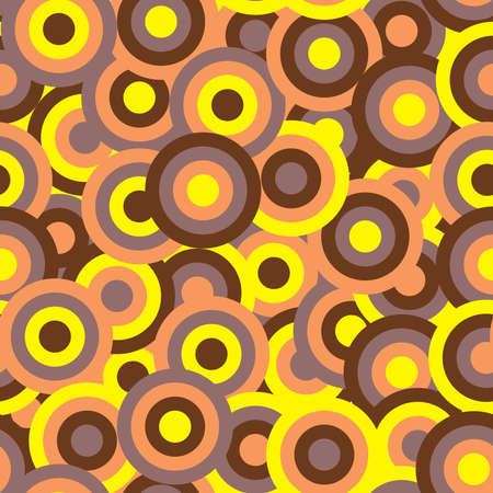 70s: Abstract background with colored circles