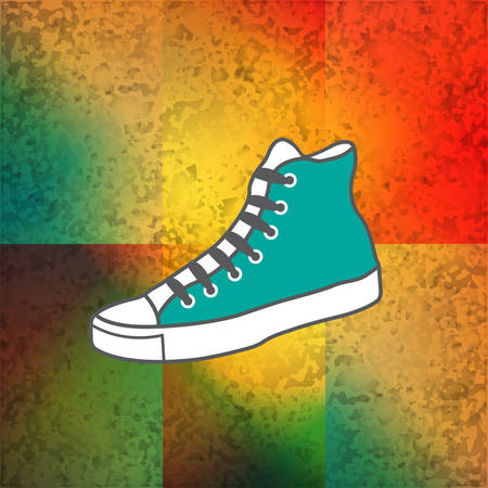 Colored background with gumshoes Vector