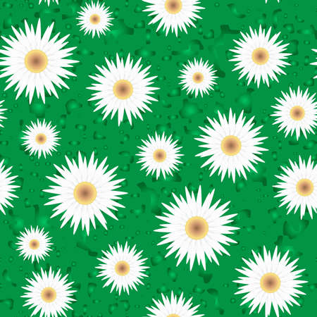 Seamless vector background with flowers Vector