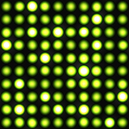 stage lights: Bright green background with lights Illustration