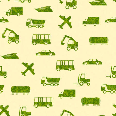 Seamless color pattern with transport Vector