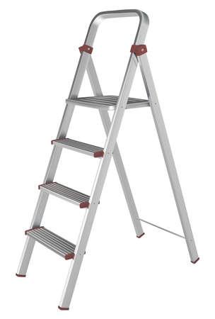 stepladder: Vector metal stepladder on a white background Illustration