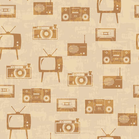 Seamless vector background with equipment Vector