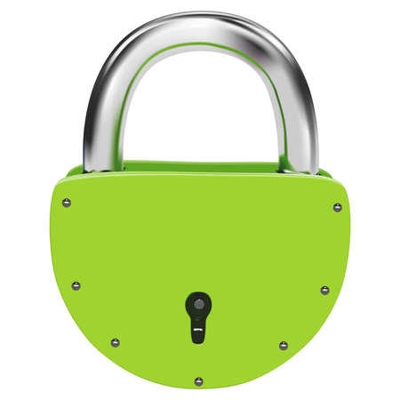 Green vector lock on a white background Vector