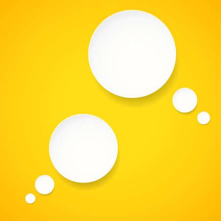 white sticker: Blank empty white vector speech bubbles