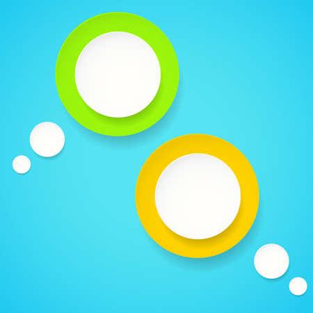 Blank empty colorful vector speech bubbles Vector
