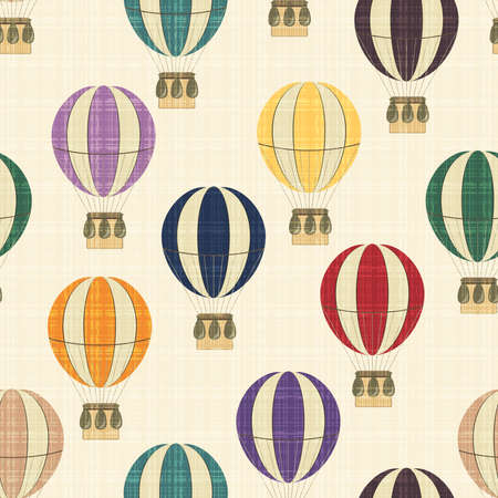 Seamless vector texture with balloons Illustration