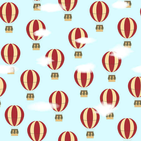 Seamless vector pattern with balloons Vector