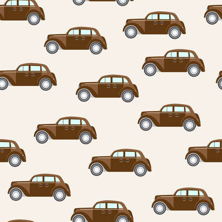 Seamless vector pattern with cars Vector