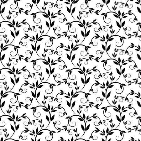 decorative patterns: Seamless vector texture with floral elements