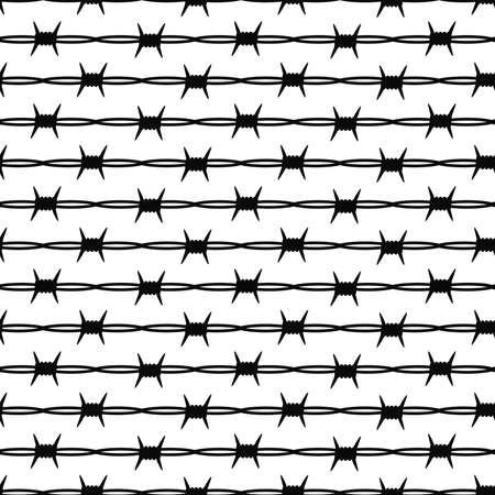 Seamless vector texture with barbed wire