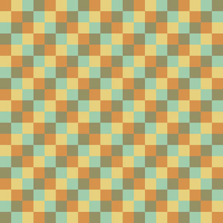 grange: Seamless vector texture with square elements Illustration