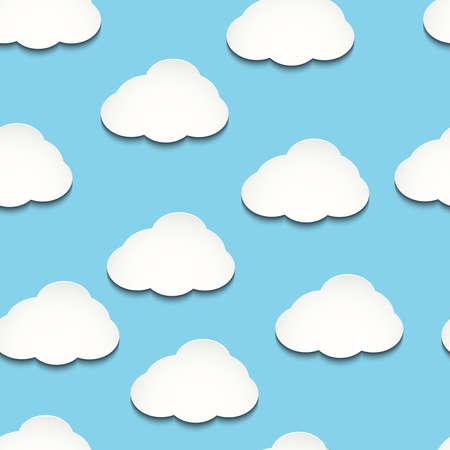 ร   ร   ร   ร  ร ยข  white clouds: Seamless vector texture with white clouds Illustration