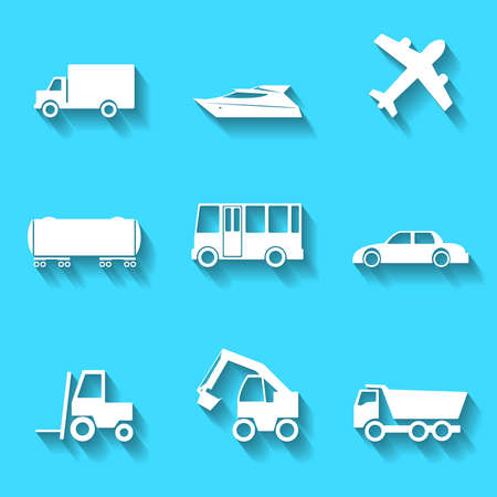 boat motor: Set of the vector transportation icons
