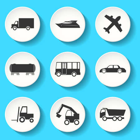 sea freight: Set of the vector transportation icons