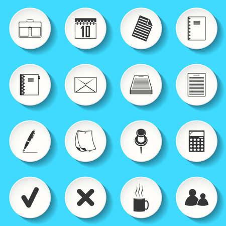no people: Set of the vector office icons Illustration