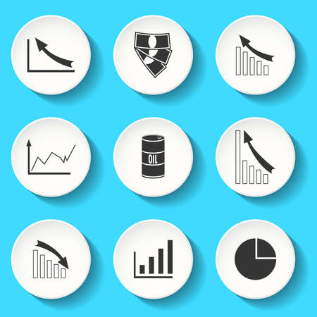 Set of the vector business  icons Vector