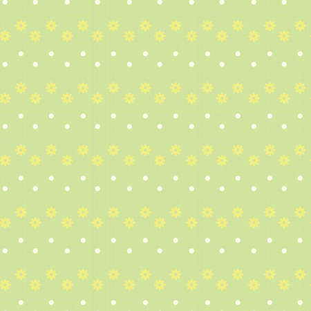 wallpaper image: Seamless vector texture with flowers and dots