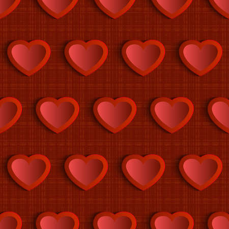 vector hearts: Seamless vector pattern with red hearts Illustration