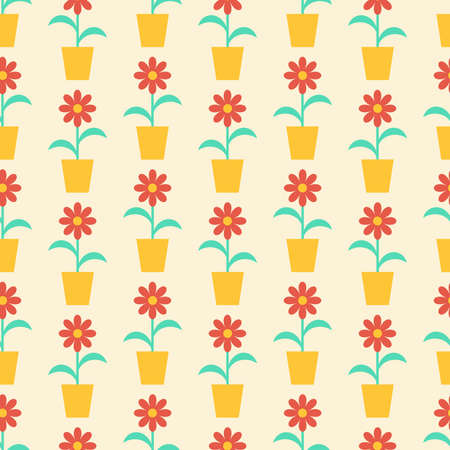 Seamless vector texture with abstract floral elements Vector