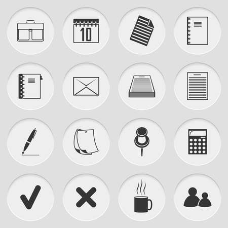 no people: Vector illustration of cut elements with icons Illustration