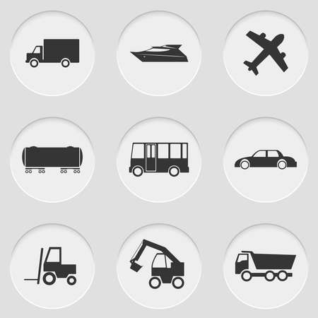 digger: Vector illustration of cut elements with icons Illustration