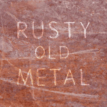 oxidized: Realistic texture: rusty and old brown metal Illustration