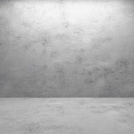 그림 : 현실적인 콘크리트 벽으로 된 방 인테리어