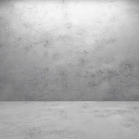 illustration: intérieur de l'ancienne salle avec le mur de béton réaliste