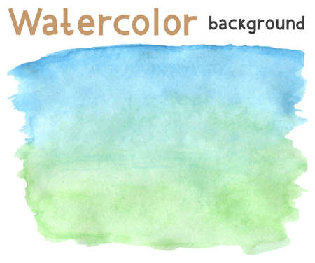 Vector illustration with hand drawn abstract watercolor background Ilustrace