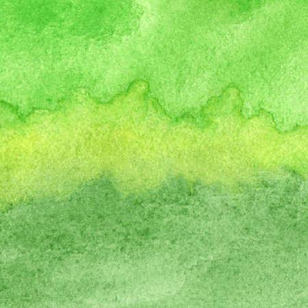 verde: Ilustración vectorial con el dibujado a mano acuarela abstracta Vectores