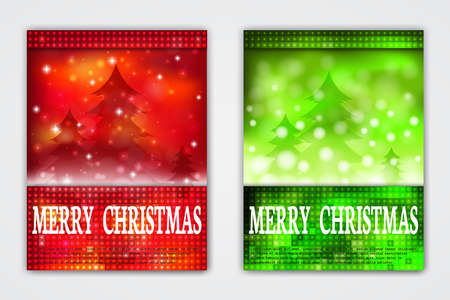 holiday invitation: Vector Holiday Flyers. Invitation Illustration. Posters Decoration Templates for Christmas and New Year Celebration.