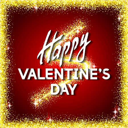 meaningful: Valentines Congratulation Card Vector Illustration.