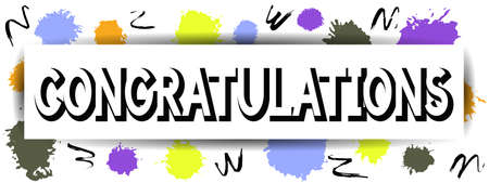 commend: Congratulations card. Do not forget to congratulate. Best design. Decoration text with Hand-Drawn texture. Art congrats Template for banners, posters, brochures, placards. Vector Illustration.