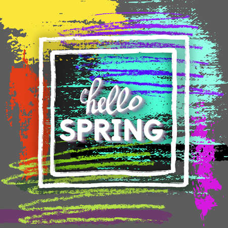 prettiness: Use this Card for Congratulations. Spring Greeting Postcard. Best vector design. Decorative text with hand-drawn texture. Art Prettiness template for banners, brochures, placards, flyers, posters.