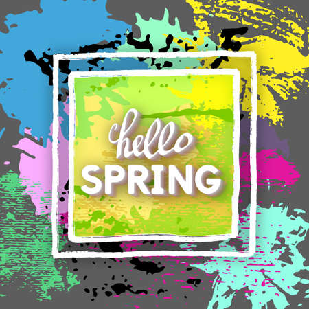 imaginative: Use this Card for Congratulations. Spring Greeting Postcard. Best vector design. Decorative text with hand-drawn texture. Art imaginative template for banners, brochures, placards, flyers, posters. Illustration