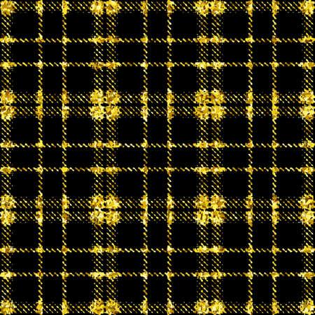 金色の背景にきらびやかな織物株式ベクトル図のシームレス パターン  イラスト・ベクター素材