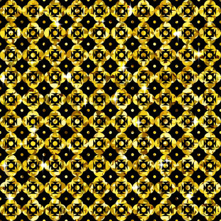 glitzy: Golden Background with Seamless Pattern of Glittering Fabric Stock Vector Illustration Illustration