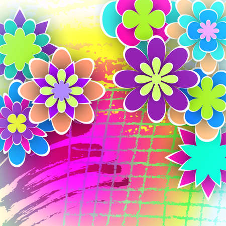 Groet Achtergrond Met Papier Bloemen Voor Vakantie Dagen En Viering Uitnodiging Kaart Ontwerp Stock Vector Illustratie Stock Illustratie