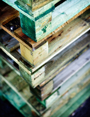 euro pallet: Piled up pallets
