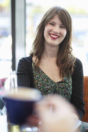 Girl at café
