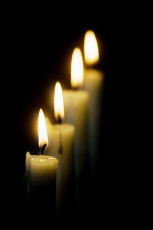 chrstmas: Four white candles